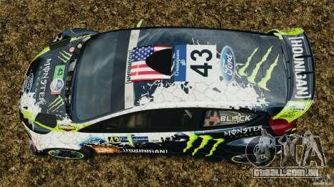 Ford Fiesta RS WRC Gymkhana v1.0 para GTA 4 vista direita