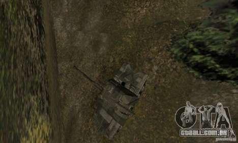 2s19 Msta-s, versão de inverno para GTA San Andreas vista traseira