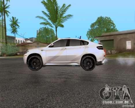 BMW X6 para GTA San Andreas esquerda vista
