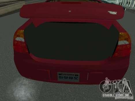 Chrysler 300M para GTA San Andreas vista traseira