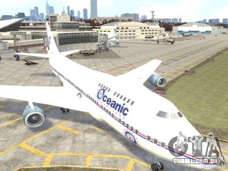 Oceanic Airlines para GTA 4 esquerda vista