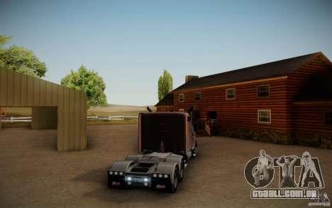 Mack Pinnacle Rawhide Edition para GTA San Andreas traseira esquerda vista