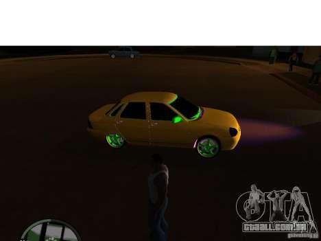 VAZ-2174 Priora Crazy Taxi para GTA San Andreas traseira esquerda vista