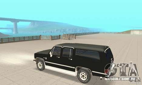 Chevrolet Suburban FBI 1986 para GTA San Andreas vista traseira