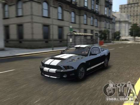 Ford Shelby GT500 2010 WIP para GTA 4 vista de volta