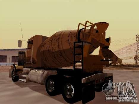 Kenworth W 900 para GTA San Andreas vista traseira