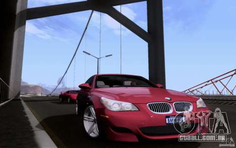 BMW M5 para GTA San Andreas vista interior