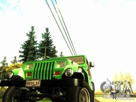 Jeep Wrangler Convertible para GTA San Andreas vista direita