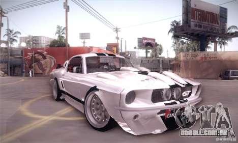 Shelby GT500 para GTA San Andreas vista direita
