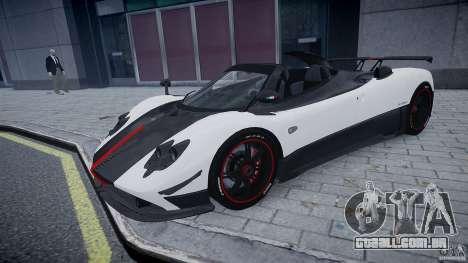 Pagani Zonda Cinque Roadster para GTA 4 esquerda vista