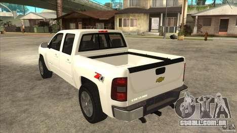 Chevrolet Cheyenne 2011 para GTA San Andreas traseira esquerda vista