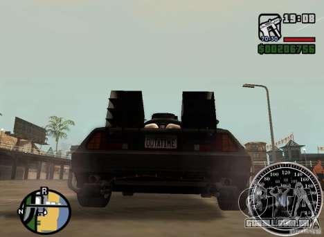 Crysis Delorean BTTF1 para GTA San Andreas esquerda vista