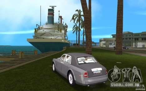 Rolls Royce Phantom para GTA Vice City vista traseira esquerda