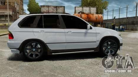 BMW X5 4.8IS BAKU para GTA 4 esquerda vista