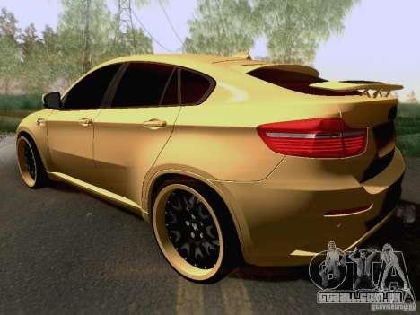 BMW X6M Hamann para GTA San Andreas vista superior