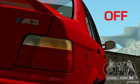 BMW E36 320i para GTA San Andreas vista direita