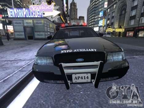 Ford Crown Victoria NYPD Auxiliary para GTA 4 esquerda vista