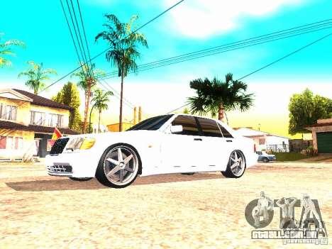 Mercedes-Benz S600 AMG para GTA San Andreas esquerda vista