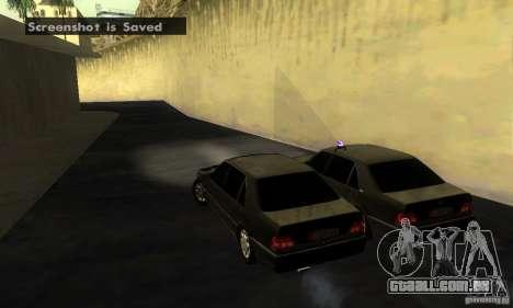Mercedes-Benz W140 S600 Long Deputat Style para GTA San Andreas traseira esquerda vista