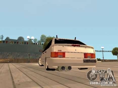 BESTA ВАЗ 2114 para GTA San Andreas vista direita