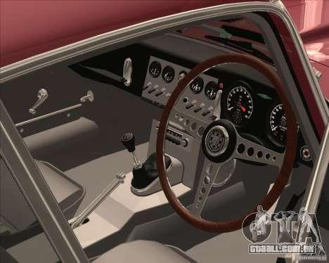 Jaguar E-Type Coupe para GTA San Andreas vista traseira