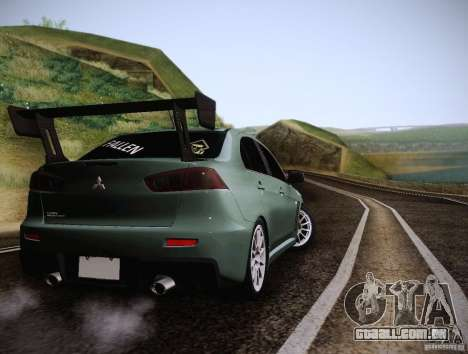 Mitsubishi Lancer Evolution Drift Edition para GTA San Andreas vista direita