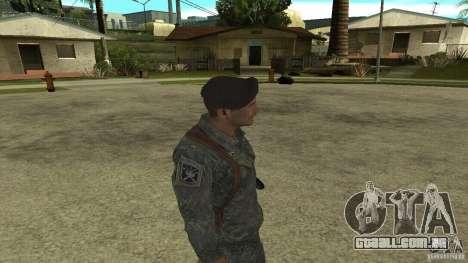 Shepard de CoD MW2 para GTA San Andreas por diante tela