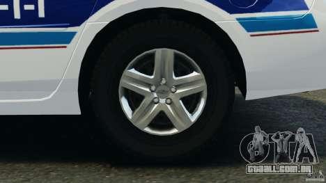 Chevrolet Impala 2012 LCPD para GTA 4 vista de volta
