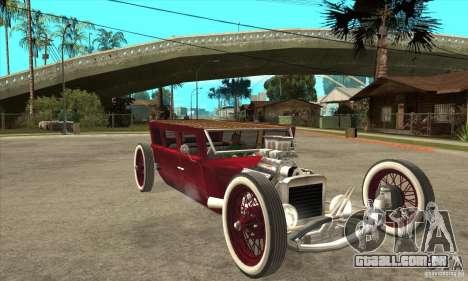 HotRod sedan 1920s para GTA San Andreas vista traseira