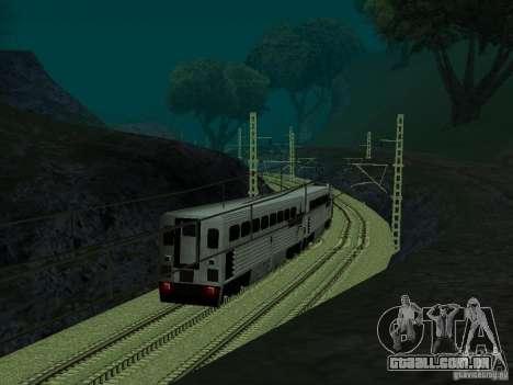 Linha ferroviária de alta velocidade para GTA San Andreas quinto tela
