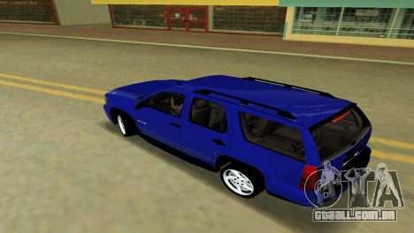 Chevrolet Tahoe 2011 para GTA Vice City vista traseira