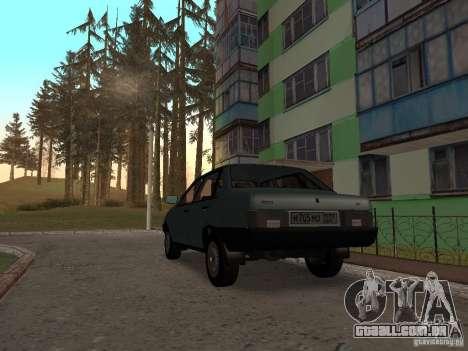 VAZ 21099 CR v. 2 para GTA San Andreas traseira esquerda vista