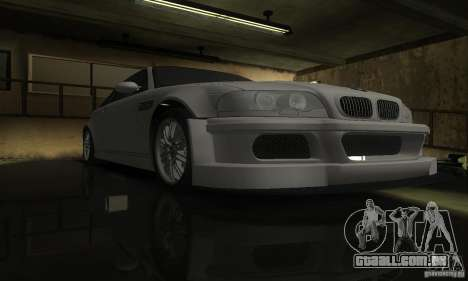 BMW M3 Tuneable para GTA San Andreas vista interior