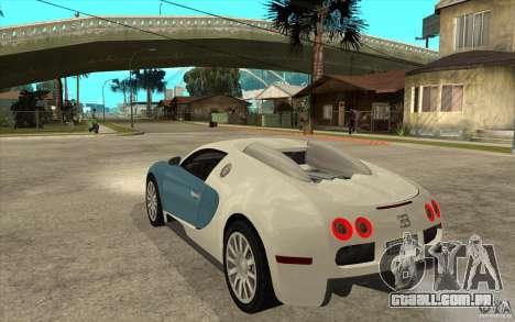Bugatti Veyron Final para GTA San Andreas traseira esquerda vista