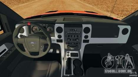 Ford F-150 SVT Raptor para GTA 4 vista de volta