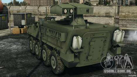 Stryker M1134 ATGM v1.0 para GTA 4 traseira esquerda vista
