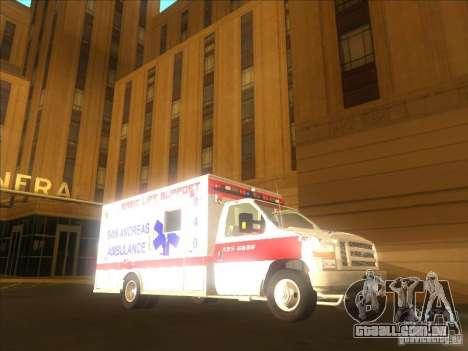 Ford E-350 Ambulance 2 para GTA San Andreas