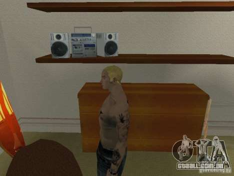 Pele Eminema para GTA San Andreas quinto tela