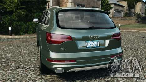Audi Q7 V12 TDI v1.1 para GTA 4 traseira esquerda vista