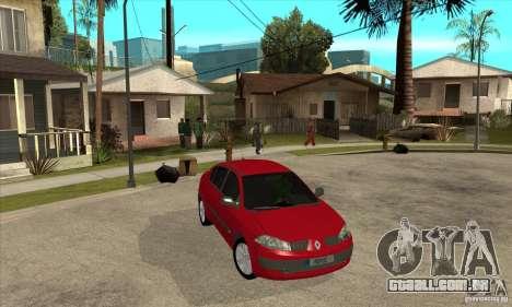 Renault Megane II Sedan para GTA San Andreas vista traseira