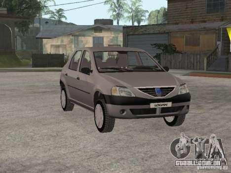 Dacia Logan 1.6 para GTA San Andreas