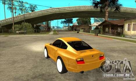 GTA IV Comet para GTA San Andreas traseira esquerda vista