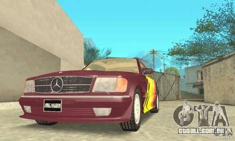 Mercedes-Benz W126 560SEC para o motor de GTA San Andreas