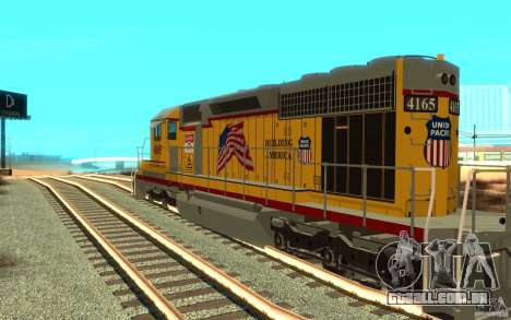 SD 40 Union Pacific Building America para GTA San Andreas vista direita
