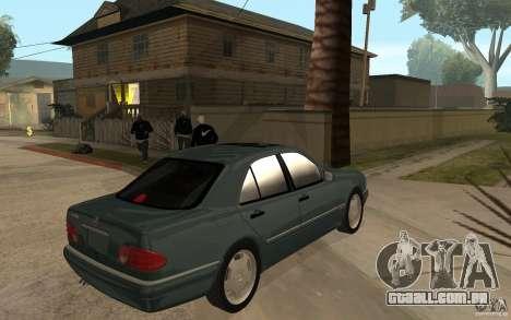 Mercedes-Benz E420 W210 1997 para GTA San Andreas vista direita