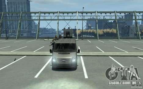 Ford Transit 2011 para GTA 4 vista de volta