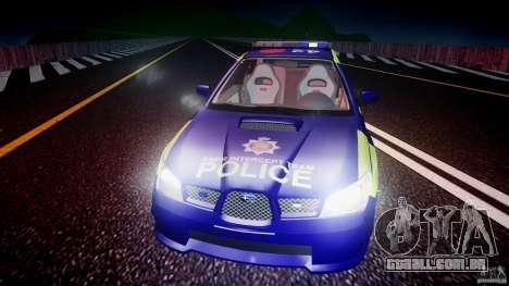 Subaru Impreza WRX Police [ELS] para GTA 4 motor