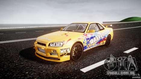 Nissan Skyline R34 GT-R Tezuka Goodyear D1 Drift para GTA 4