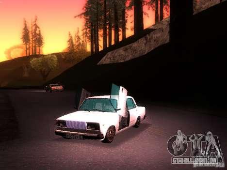 VAZ 2107 Lambo para GTA San Andreas vista direita