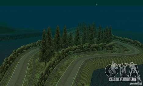 A rota do rali para GTA San Andreas por diante tela